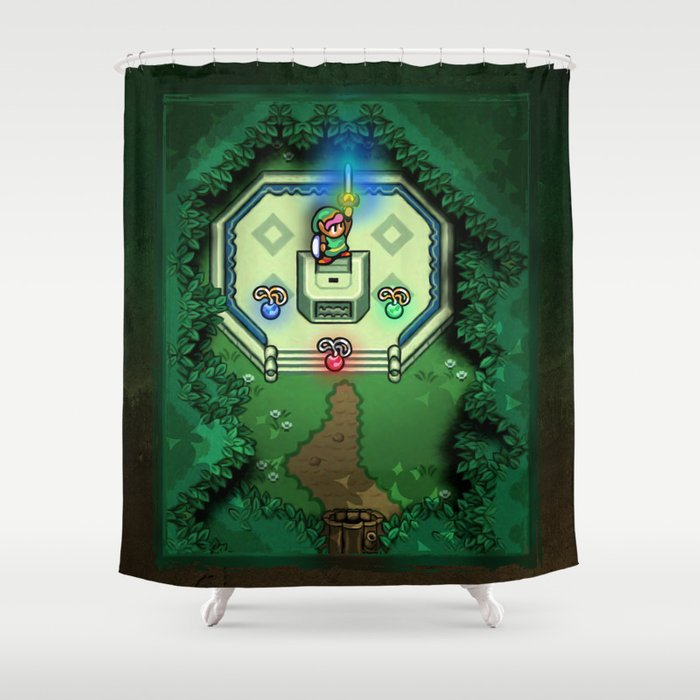 Zelda Link To The Past Master Sword Shower Curtain By Likelikes