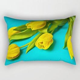 Tulip on Teal Rectangular Pillow