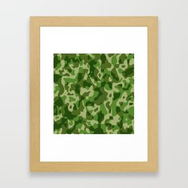 Camouflage Army Military Texture Pattern Framed Art Print