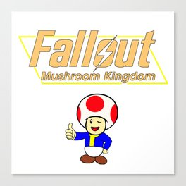 Fallout: Mushroom Kingdom Canvas Print