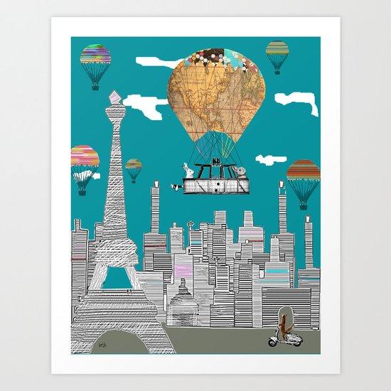 adventure days paris Art Print