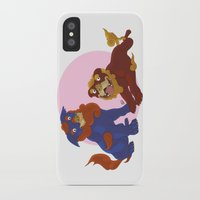 pit bull iPhone & iPod Cases featuring Pit Bull Shisa Guardians by AlliePets