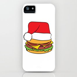 """Hamburger Christmas"" luscious and mouth watering tee design perfect gift this seasons of giving!  iPhone Case"