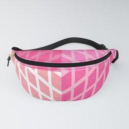 Geometric Pattern Design Pink Fanny Pack