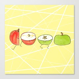 Apple Halves Canvas Print
