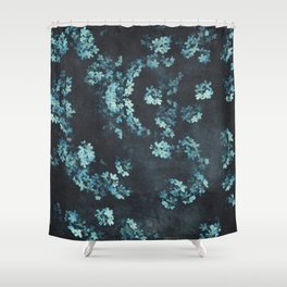 Forget-Me-Nots Pattern Shower Curtain