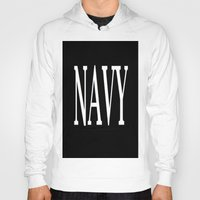 navy Hoodies featuring NAVY by shannon's art space