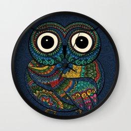 Bohemian Owl Wall Clock