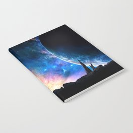 over the galaxy Notebook