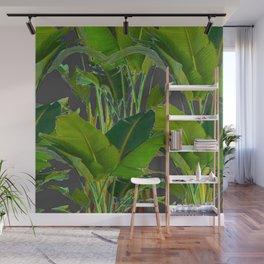GREEN-GRAY TROPICAL JUNGLE  ART DESIGN Wall Mural