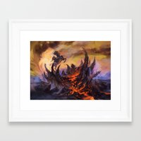 magic the gathering Framed Art Prints featuring Lavaclaw Reaches - Magic: The Gathering by vmeignaud