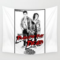day of the dead Wall Tapestries featuring Day of the Dead by Other People's Characters