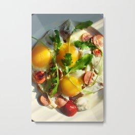 fried egg Metal Print