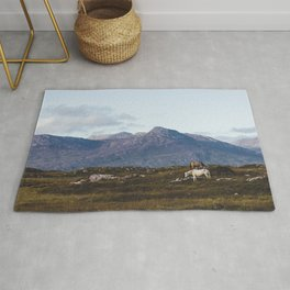 Connemara  - Horse and Mountains Rug