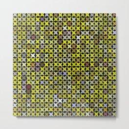 Yellow Cross Stitch Metal Print