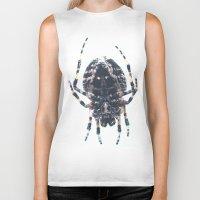 spider Biker Tanks featuring Spider by Bor Cvetko