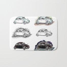 Classic mint green beetle automovil composition Bath Mat