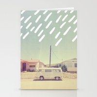 volkswagen Stationery Cards featuring Volkswagen, New Mexico by Anna Dorfman
