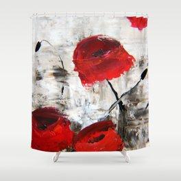 Sloppy Poppy Shower Curtain