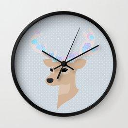 Floral Deer Wall Clock