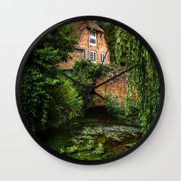 House By The River Wall Clock