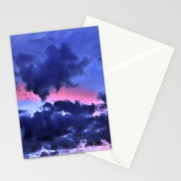 Clouds - Twilight Summer #1 #sunset #decor #art #society6 Stationery Cards