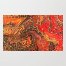 Dirty Acrylic Paint Pour 24, Fluid Art Reproduction Rug