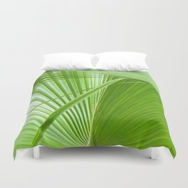 Palm Leaves // Tropical Wall Art, Beach Cottage Decor, Coastal Art Duvet Cover