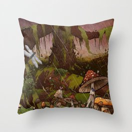 A Forest Alive Throw Pillow