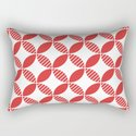 Mid Century Modern Geometric Flower Pattern Red by tonymagner