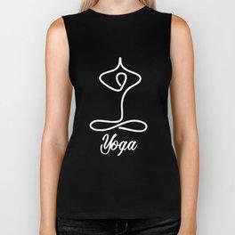 Funny Yoga for Women & Men | Namaste Om Meditation Dark Biker Tank