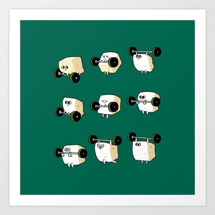 OLYMPIC LIFTING  Tofu Art Print