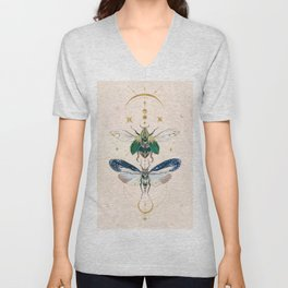 Moon insects Unisex V-Neck