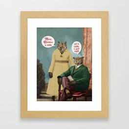 Merry Christmas to Owls, and to Owls a Good Night!! Framed Art Print