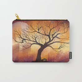 Halloween tree silhouette digital illustration Carry-All Pouch