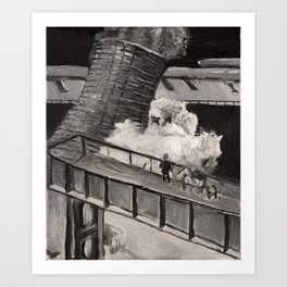 Demolition Ghost Art Print