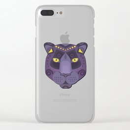 Royal Black Panther Clear iPhone Case