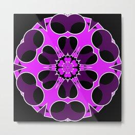 Lavender Tube in Cube Snowflake Metal Print