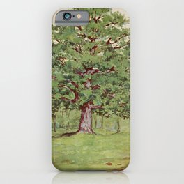 Vintage Print - Familiar Trees and Leaves (1911) - White Oak iPhone Case