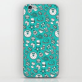 PRETTY LITTLE CHRISTMAS THINGS - Turquoise iPhone Skin
