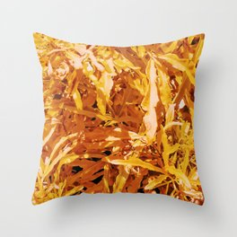 Yellow Garden Flowers Throw Pillow