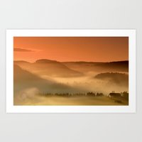 fog Art Prints featuring fog by Laake-Photos