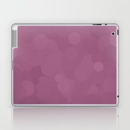 Grape Nectar Bubble Dot Color Accent Laptop & iPad Skin
