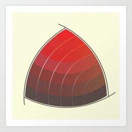 Le Rouge-Orangé (ses diverses nuances combinées avec le noir) Vintage Remake, no text Art Print