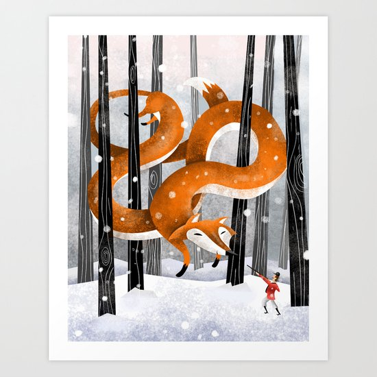 Giant fox Art Print