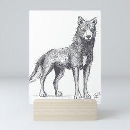 The Lone She-Wolf Mini Art Print