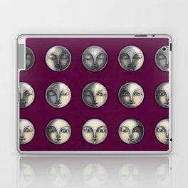 moon phases on dark purple Laptop & iPad Skin