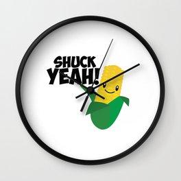 Shuck Yeah Wall Clock