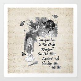 Alice In Wonderland Quote - Imagination Art Print