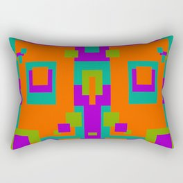 Herb, Berry, Pumpkin Decorative Design 2 Rectangular Pillow
